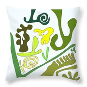 Finding The Love In My Garden.  Throw Pillow