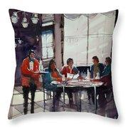 Fine Dining Throw Pillow by Ryan Radke