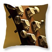 Finely Tuned Throw Pillow