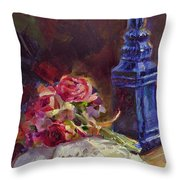 Finer Things Still Life By Karen Whitworth Throw Pillow