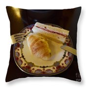 Finger Sandwiches For Traditional Afternoon Tea Throw Pillow