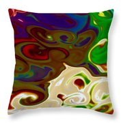 Fingerpainted Fantasy Throw Pillow