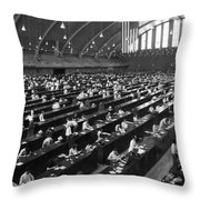 Fingerprinting At The Federal Armory 1945 Throw Pillow