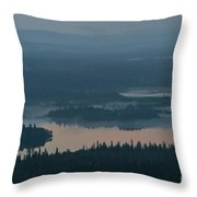 Finish Lakeland In The Mist Throw Pillow