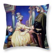 Finn And Haddie Throw Pillow