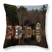Finn Village On Demond Pond - Rutland Massachusetts Throw Pillow