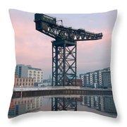 Finnieston Crane Reflections Throw Pillow