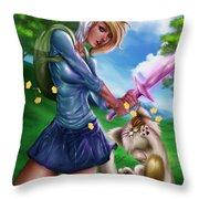 Fionna And Cake Throw Pillow