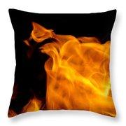 Fire 006 Throw Pillow