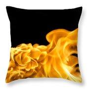 Fire 016 Throw Pillow