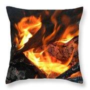 Fire 1 Throw Pillow