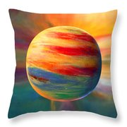 Fire And Ice Ball  Throw Pillow