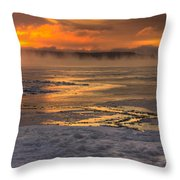 Fire And Ice Cropped Throw Pillow