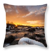 Fire And Ice Throw Pillow by Davorin Mance