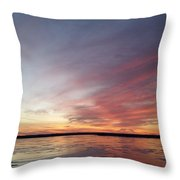 Fire And Ice Fishing Throw Pillow