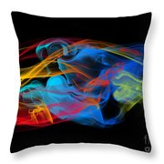 Fire And Ice Smoke  Throw Pillow