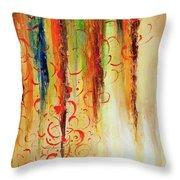 Fire And Rain Throw Pillow