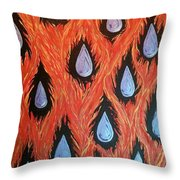 Fire And Rain Reversible Throw Pillow