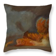 Fire And Sand Throw Pillow