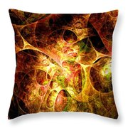 Fire And Shadow Throw Pillow