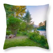 Fire And Water At Cottonwood Cottage Throw Pillow