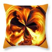 Fire Ball Throw Pillow