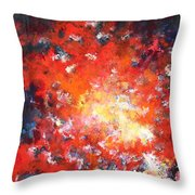 Fire Blazing In The Sky Throw Pillow