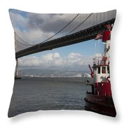 Fire Boat #2 Throw Pillow