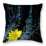 Fire Boots Hdr Throw Pillow