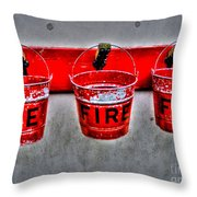 Fire Buckets Throw Pillow