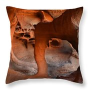 Fire Cave Windstone Arch Nevada Throw Pillow