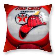 Fire Chief Gasoline Globe Throw Pillow