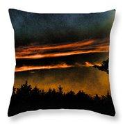 Fire Clouds Throw Pillow