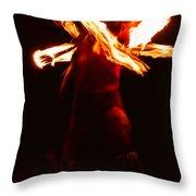 Fire Dancer 1 Throw Pillow