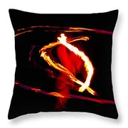Fire Dancer 2 Throw Pillow