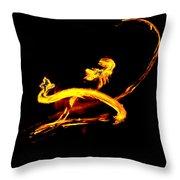 Fire Dancer 3 Throw Pillow