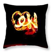Fire Dancer 4 Throw Pillow