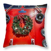Fire Department Christmas 1 Throw Pillow