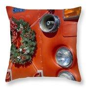 Fire Department Christmas 2 Throw Pillow