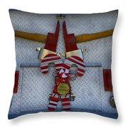 Fire Department Christmas 3 Throw Pillow