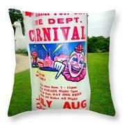 Fire Dept. Carnival Throw Pillow