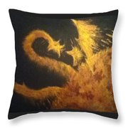 Sun Dragon Throw Pillow
