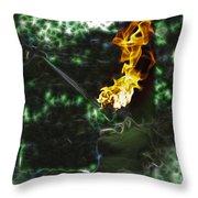 Fire Eater Throw Pillow