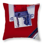 Fire Engine Red And Chrome Throw Pillow
