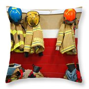 Fire Equipment At Rest Throw Pillow