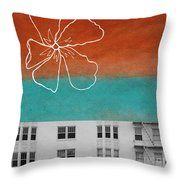 Fire Escapes Throw Pillow by Linda Woods