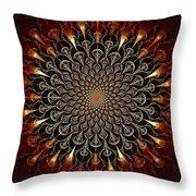 Fire Glyph Throw Pillow