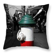 Fire Hydrant From Little Italy Throw Pillow