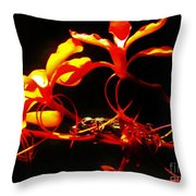 Fire In Bloom Throw Pillow