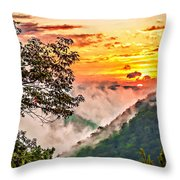 Fire In The Hole - Painted  Throw Pillow